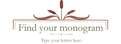 monograms  monogram page