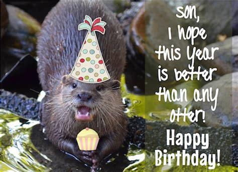 birthday   otter   son   son daughter ecards
