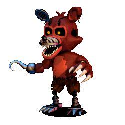nightmare foxy fnaf world wikia fandom powered  wikia