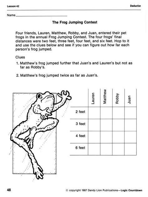 11th grade arts lesson plans. Prufrock Press : Logic Countdown (Grades 3-4)