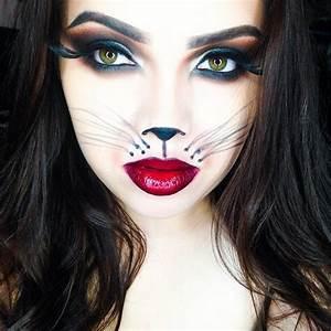 Idée Déguisement Femme : maquillage de halloween minimaliste d 39 inspiration fashion ~ Dode.kayakingforconservation.com Idées de Décoration