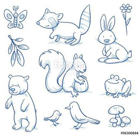 vektor cute cartoon forest animals bear squirrel