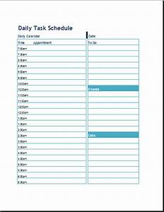 daily task schedule format template word excel templates With template for daily tasks