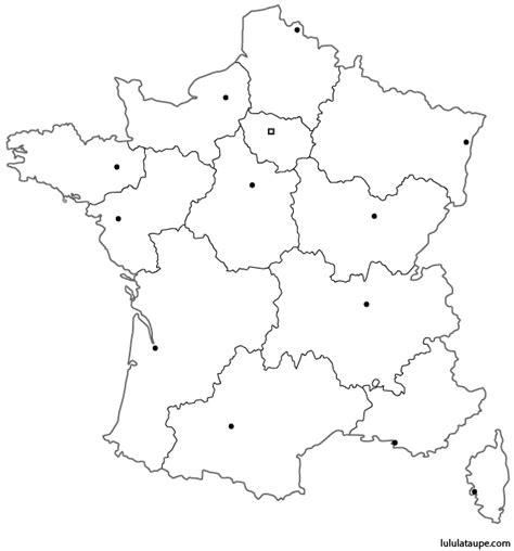 Carte De Region Et Departement Vierge by Carte Vierge Des 13 Nouvelles R 233 Gions De 224 Imprimer