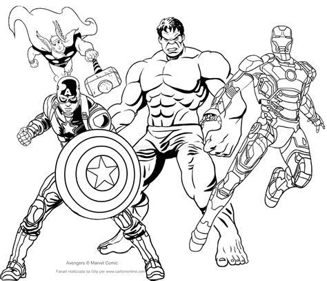 dibujo de los avengers  colorear