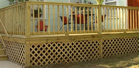 adding wood lattice  skirting   deck