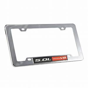 Ford Mustang & F-150 5.0 Red Coyote Chrome License Plate Frame, Intended for 5.0 Coyote Mustangs ...