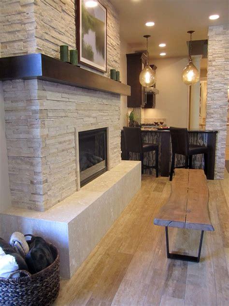 rustic  modern fireplace thetileshop stacked