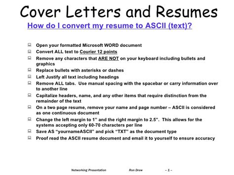 Cv To Resume Converter by Rdrew Convert Word Resume To Text For Posting On Web