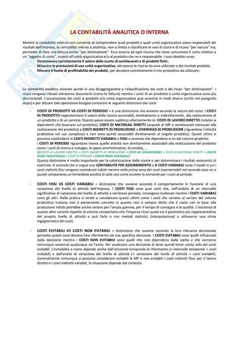 economia contabilit 224 interna - Contabilità Interna