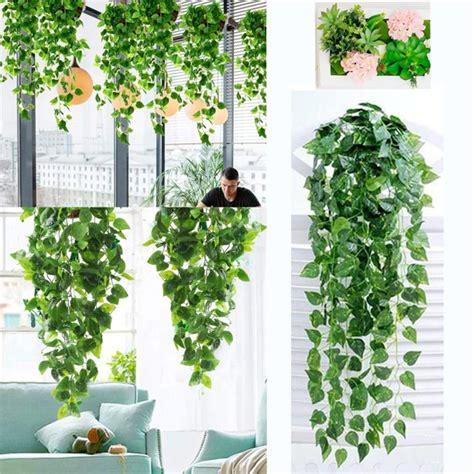 Indoor decoration 110cm artificial podocarpus tree customizable. JANSION 2 Bunch Artificial Ivy Outdoor Fake Hanging Vine ...