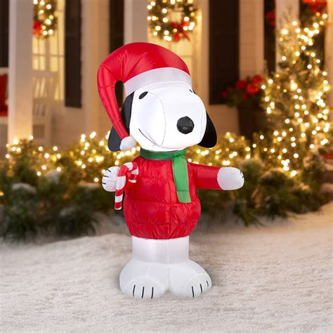 snoopy inflatable christmas yard decorations fun holiday
