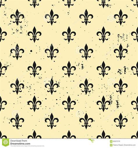 Fleur De Lis Seamless Pattern Ols Style Template Floral