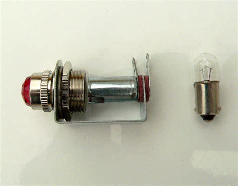 6v Red Pilot Lamp & Bracket For Fender Guitar Amplifier