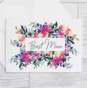 BEST MUM CARD - FLORAL MOTHER'S DAY CARD