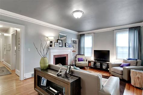 like the light gray walls and dark gray ceiling living