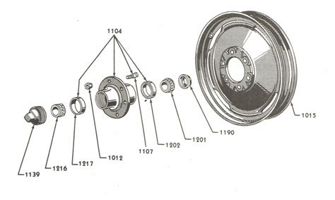 Front Wheel Parts For Ford 9n & 2n Tractors (1939-1947