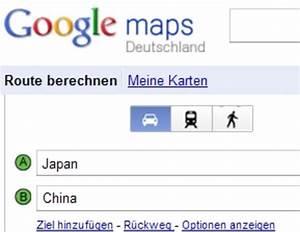 Kürzeste Route Berechnen : sportliche reise mit google maps routenplaner von japan nach china seelze ~ Themetempest.com Abrechnung
