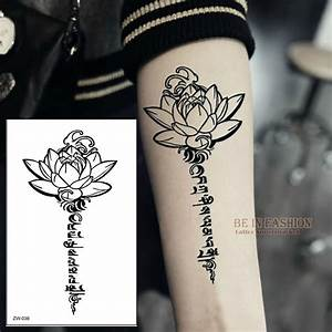 Aliexpresscom buy buddha lotus designs temporary tattoo for Henna tattoo letters