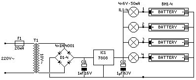 Batteries Charger Circuit Diagram Instructions
