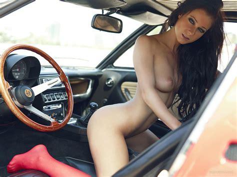 Melisa Mendini Alfa Romeo Montreal Nice Bunnys Sexy Topless Girl Vintage Car