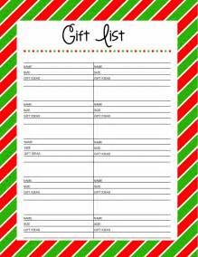 free printable gift list 25 days to an organized christmas here comes the sun