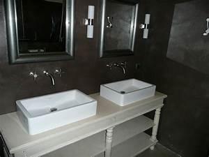 Salle De Bain Beton Cire : enduit effet b ton cir salle de bain 20170930095833 ~ Dailycaller-alerts.com Idées de Décoration