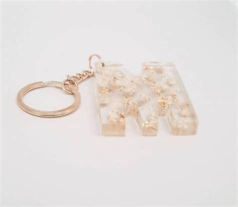 alphabet resin gold letter keychain gift gypsophila flowers etsy flower bag keychain