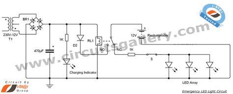 led  emergency light circuit diagram electronics circuits