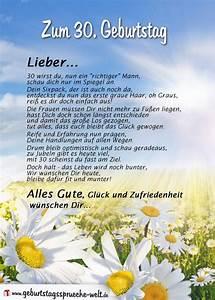 Geburtstagssprüche 30 Lustig Frech : gedicht zum 30 geburtstag f r ihn ~ Frokenaadalensverden.com Haus und Dekorationen