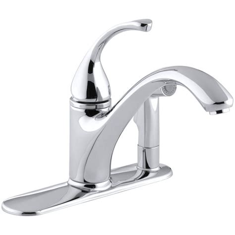 kitchen faucets single handle with sprayer kohler forte single handle standard kitchen faucet with