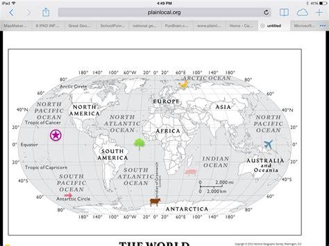 latitude and longitude map skills worksheets 6th grade