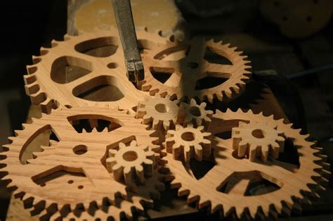 wooden gear clock  steps  pictures
