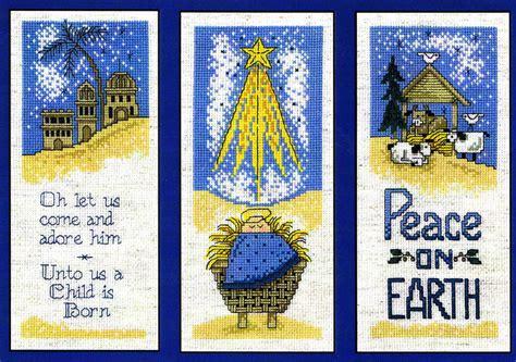 nativity trio cross stitch pattern  imaginating