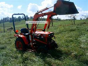 Diesel Kubota B4200 4wd With Front End Loader And Belly