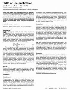 latex templates pnas journal With academic journal template word