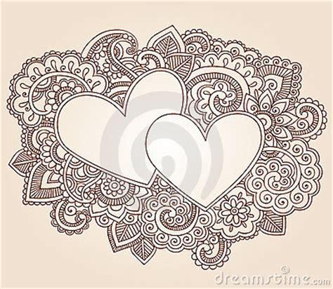 henna hearts valentines day vector royalty  stock