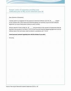 Retirement Letter To Employer Sample