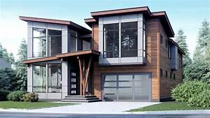 Two, Story, Modern, Style, House, Plan, 1457, Riverside