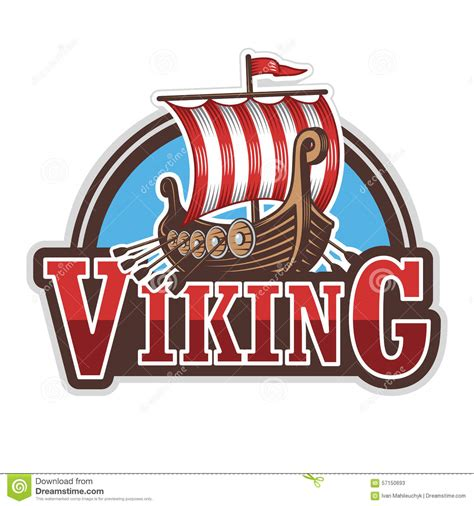 Viking Boat Flags by Viking Ship Sport Logo Stock Illustration Image 57150693