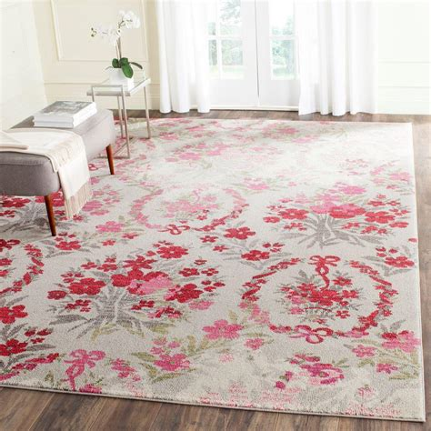 Safavieh Pink Rug by Safavieh Monaco Ivory Pink 8 Ft X 11 Ft Area Rug Mnc205r