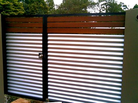 corrugated metal fence gates fences on pinterest fencing fence and sliding gate