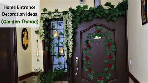 home entrance decoration ideas simplify  space youtube