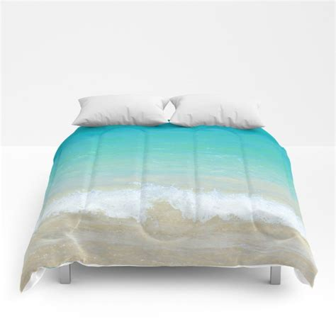 calm wave comforter ocean sea bedding beach coastal