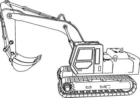 focus excavator coloring page john deere pages colouring