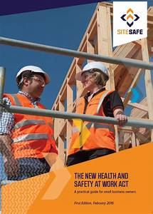 The New Health And Safety At Work Act