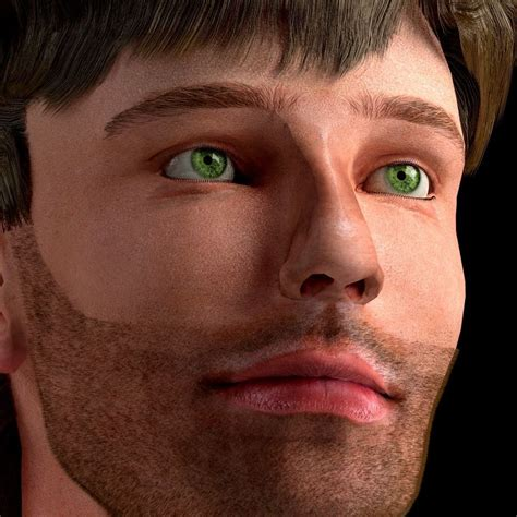 human 3D male head with texture   CGTrader