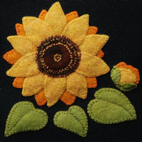 Felt Applique Patterns by Best 25 Wool Applique Ideas On Wool Applique