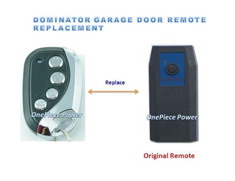 dominator garage door remote control door opener mhz