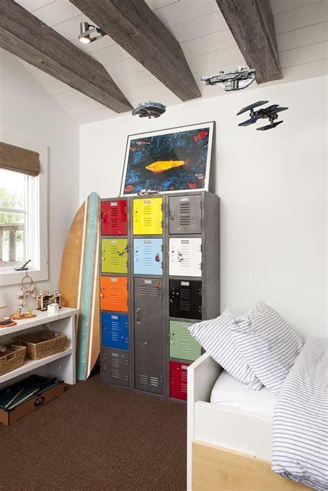 repurposed metal locker in boys bedroom kidesign